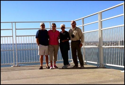 06c - Rick, Gail, Nancy, Bill at top of bridge