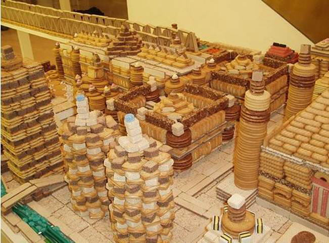 Biscuit City: Created by Chinese artist Song Dong in the basement of London Selfridges