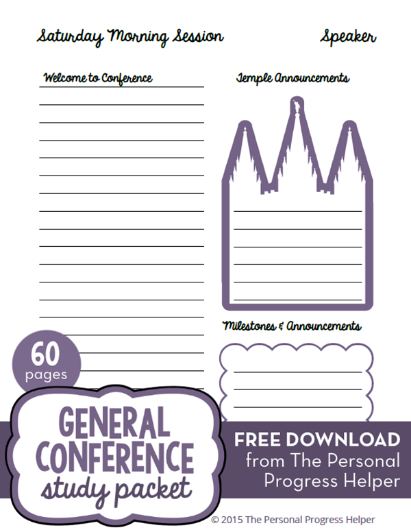 General Conference Study Packet FREE Download! 60 pages of General Conference study aids!