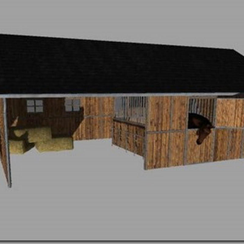 Farming simulator 2013 - Placeable horse barn with water trigger v 1.0