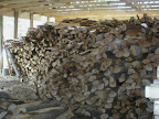 Our new woodshed holds 32 cords of wood, but we burned almost 40 this year.