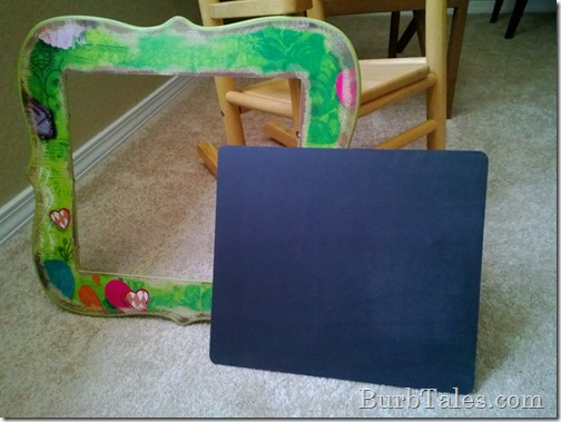 Turning this corkboard to a chalkboard