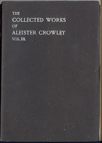 Cover of Aleister Crowley's Book The Works Of Aleister Crowley Vol Iii Part 3