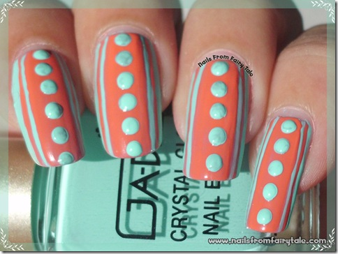 pink stripes and blue dots 3