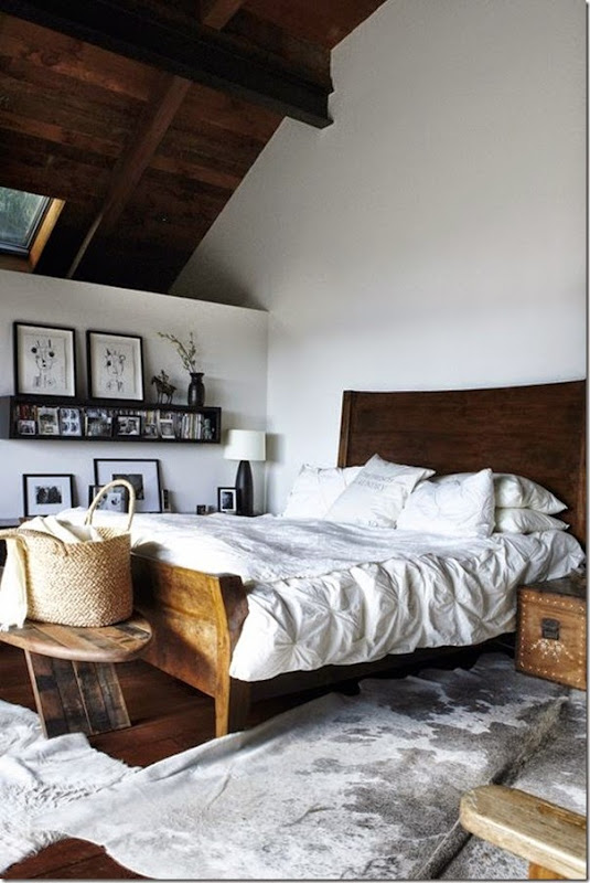 Rustic touches in the bedroom