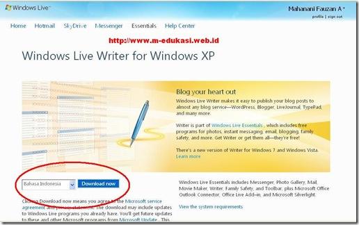Microsoft Windows Live Writer 1