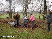 Ook is er de groepsstage: de leerlingen van de VSP-P stroom werken in het bos