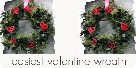 easiest valentine wreath