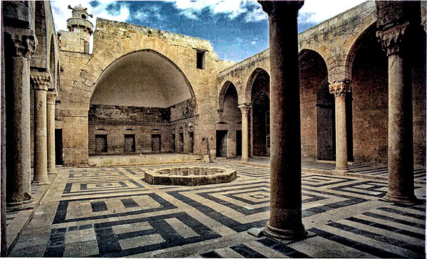 Courtyard of the Madrasa al-Firdaus in Aleppo, 1235-1241.