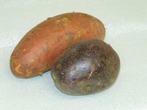 Сладкий и фиолетовый картофель