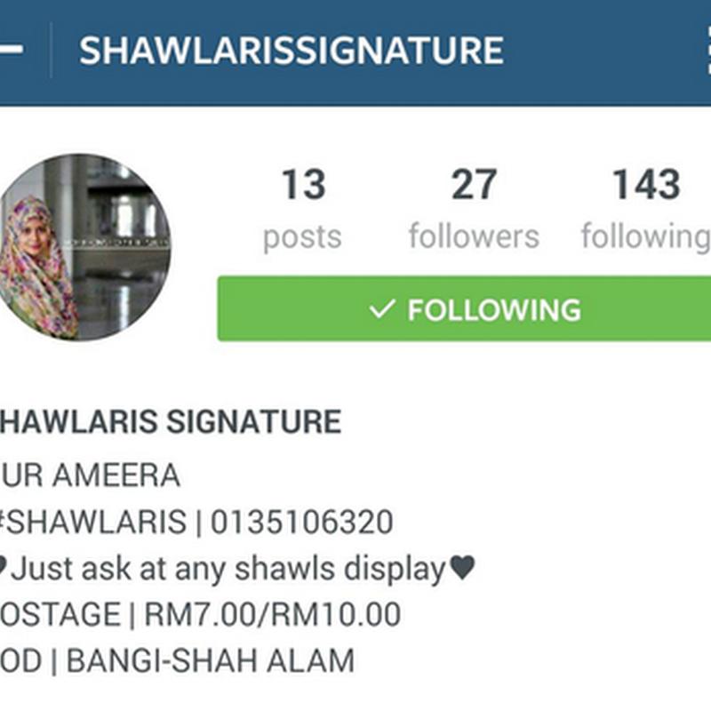 Shawlaris Signature untuk anda !
