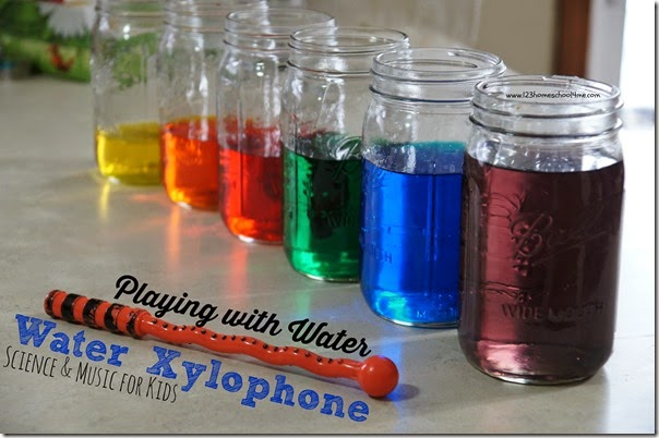 Water Activity for Kids - Kids of all ages will love playing with water while they explore music and science in this water xylophone
