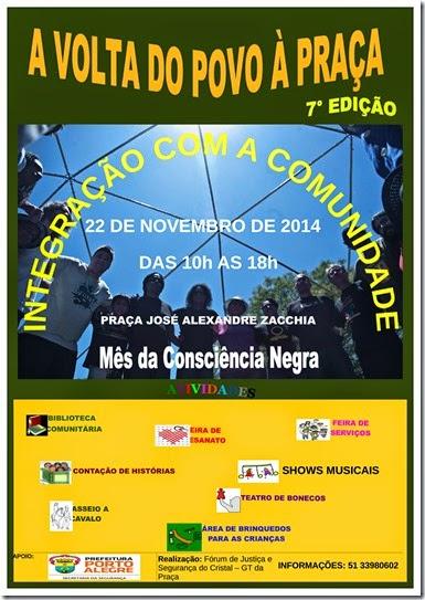CARTAZ VOLTA A PRAÇA 7 edição