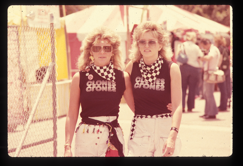 Lesbian clones at the Los Angeles Christopher Street West pride parade. 1982.