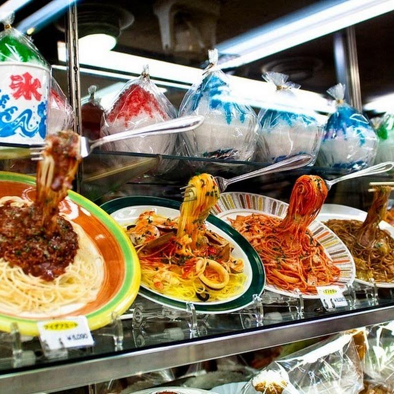 Realistic Looking Plastic Food in Japanese Restaurants