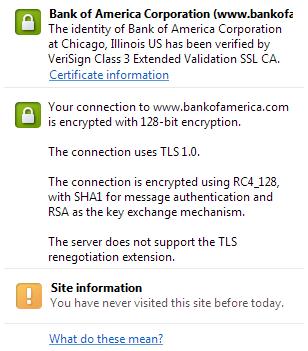Bank of America TLS