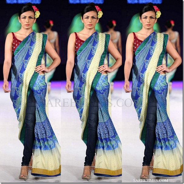 nida mahmood_blue_saree
