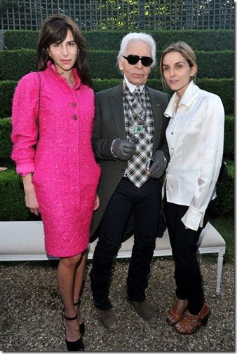 Caroline Sieber, Karl Lagerfeld and Gaia Repossi