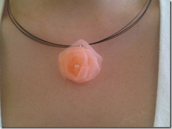 mini tulle rose necklace