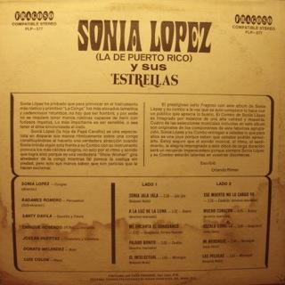 Sonia Lopez Y Sus Estrellas  De Puerto Rico  Back