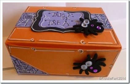 Trick or Treat Box using Sizzix Box die