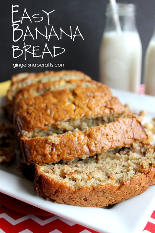Easy Banana Bread at GingerSnapCrafts.com #TasteTheMiracle #CollectiveBias #ad
