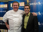 Chef Michael White posed with Chef and Radio Host Rick Bayless.