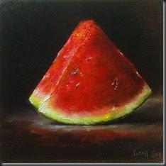 Watermelon slice 6x6 1122