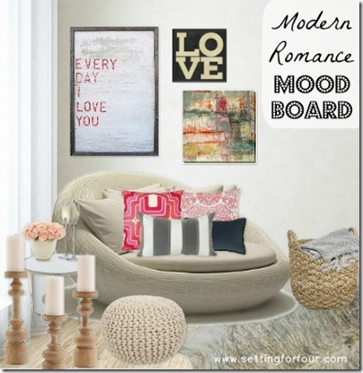 Decor - Moodboard by Setting for Four. See the details here: http://www.settingforfour.com/2013/02/modern-romance-mood-board.html #designideas #decor #moodboard #room