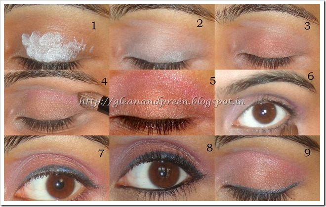Pink and Peach Eye Makeup Pictorial