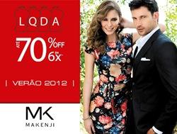 Lojas Makenji Liquidação Verão 2012 com descontos de até 70%.