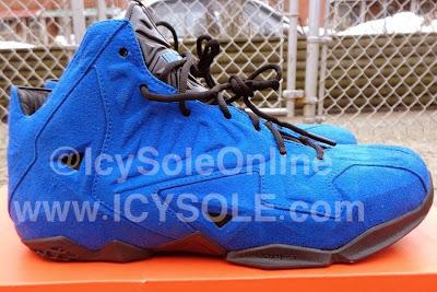 nike lebron 11 nsw sportswear ext blue suede 1 01 First Look // Nike Sportswear LeBron XI EXT Blue Suede