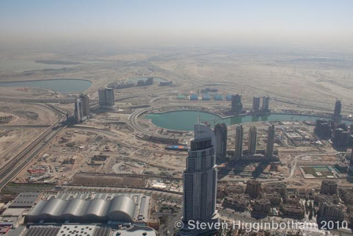 view from a Burj Khalifah tour of the tallest building in the world (Dubai, United Arab Emirates)