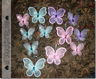 cute butterfly hair clips