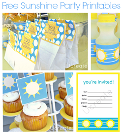 Free Printables for Sunshine Party
