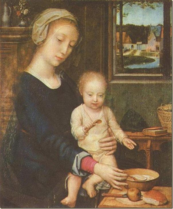 Gérard David, La Vierge à la cuillère  1515