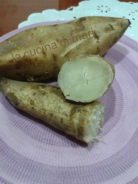 patate di zucchero o americane, cotte al vapore