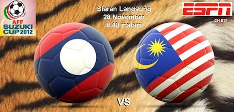 Piala AFF Suzuki 2012 : Keputusan Malaysia vs Laos