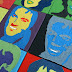 Stars nach Andy Warhol, Stoffcollage Jg. 7