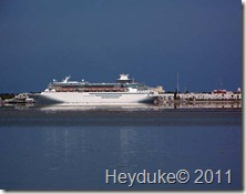 Cruise ship at Key West
