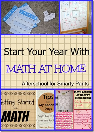 Math ideas from Afterschool blog hop