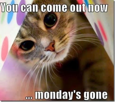 måndagen är slut