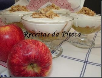 Doce de maçã com iogurte e palmiers de canela-lado