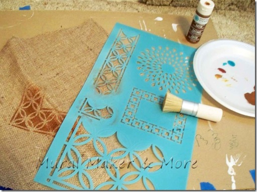 stenciled-burlap-runner