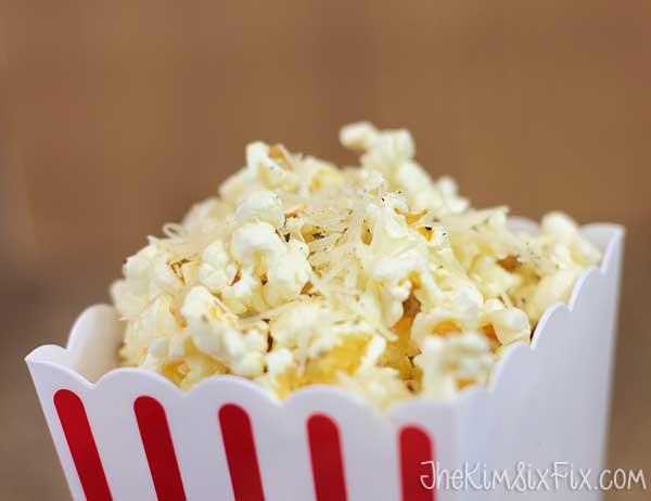 Rosemary Garlic Parmesean Popcorn