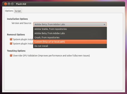 plugin Flash-Aid su Ubuntu