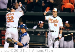 'Matt Wieters, Chris Davis' photo (c) 2012, Keith Allison - license: http://creativecommons.org/licenses/by-sa/2.0/