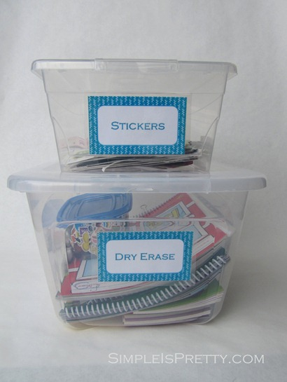 Kid's labels on containers