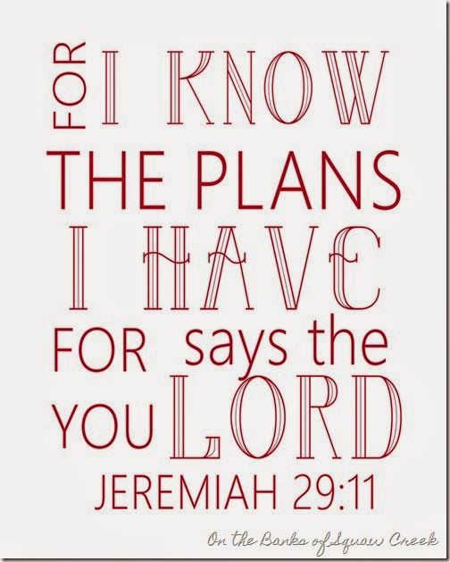 for I know the plans I have for you says the Lord