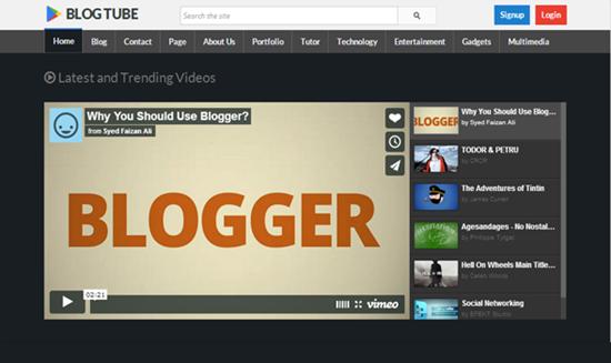 видео блог на blogspot